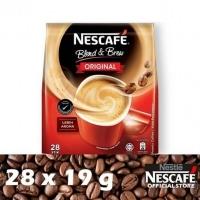 Nestle Nescafe Blend & Brew 3 in 1 Original Premix Coffee 28 x 19g