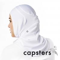 Capsters Football Sports Hijab (White)