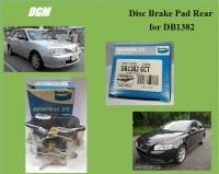 Bendix General CT Disc Brake Pad Rear for DB1382 - Proton Waja 1.6 1.8 Volvo S40 2.0