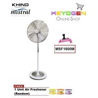 KHIND Stand Fan MSF1600M-3 Speed Mechanical Control - 1 Year Warranty FREE 1 Unit Air Freshener (Random)