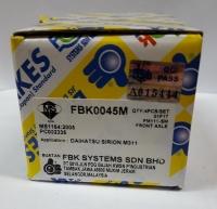 FBK Disc Brake Pad Front for FD0808MS - Perodua Myvi 2005-2010