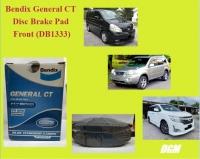 Bendix General CT Disc Brake Pad Front for DB1333 - Nissan X-Trail Year 2001 Serena C24 Elgrand 3.5