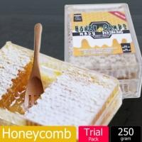 Sarang Madu Lebah / Honeycomb Raw Natural Bee Farm Production Hive honey nest(250g)