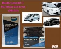 Bendix General CT Disc Brake Pad Front for DB1913 - Toyota Estima Alphard Vellfire ACR50