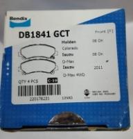 Bendix General CT Disc Brake Pad Front for DB1841 - Isuzu D-Max 2008
