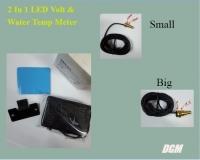 2 In 1 LED Volt & Water Temp Meter