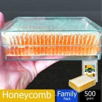 Sarang Madu Lebah / Honeycomb Natural Bee Farm Production Hive honey nest (500g)
