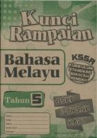 (CEMERLANG PUBLICATIONS SDN BHD)KUNCI RAMPAIAN BAHASA MELAYU TAHUN 5 KSSR 2020