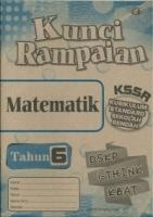 (CEMERLANG PUBLICATIONS SDN BHD)KUNCI RAMPAIAN MATEMATIK TAHUN 6 KSSR 2020