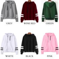 ES 🌹 6 Colors Long Sleeve Hoodie Rope Hooded Sweater Hoodies (Green)