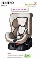PERRENO Car Seat Safies (C102) - Newborn to 18KG - White FREE 1 unit Keyogen Wet Tissue