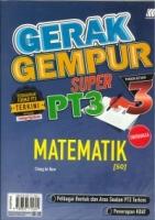 (SASBADI SDN BHD)GERAK GEMPUR SUPER MATEMATIK(DWIBAHASA)-50 TINGKATAN 3 PT3 2020