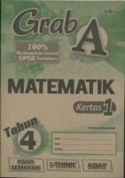 (CEMERLANG PUBLICATIONS SDN BHD)GRAD A MATEMATIK KERTAS 1 TAHUN 4 KSSR 2020