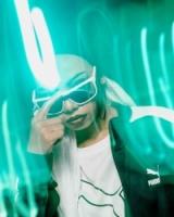 Puma Sunglasses Model PU0248S-004 White-White-Violet