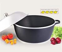 Peruk Rendang 40cm Hitam stainless steel cover