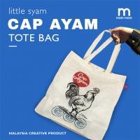 LITTLE SYAM Cap Ayam Tote Bag
