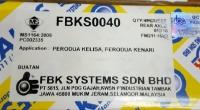FBK Brake Shoe Rear (FK0035) for Perodua Kelisa Kenari