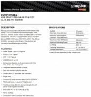 KINGSTON 4GB DDR4-2133 PC4-17000 LAPTOP RAM - Brand NEW Sealed