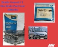 Bendix General CT Disc Brake Pad Front (DB1503) for Hyundai Matrix 2001-2006