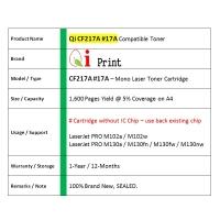 Qi Print HP CF217A 17A M102 M130 Toner Compatible * NEW SEALED *
