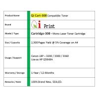 Qi Print CANON CRG 308 LBP3300 3360 Q5949A Toner Compatible * SEALED *