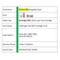 Qi Print CANON CRG 303 LBP2900 LBP3000 FX-9 Toner Compatible * SEALED*