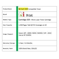 Qi Print CANON CRG 325 LBP6030 MF3010 CE285A Toner Compatible *SEALED*