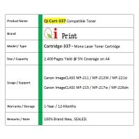 Qi Print CANON CRG 337 MF211 215 217 M221 Toner Compatible * SEALED *