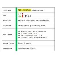 Qi Print Bro TN2025 TN350 HL2040 2080 7480 Toner Compatible * SEALED *