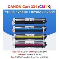 Qi Canon CRG 331 For LBP 7100 7110 8210 8250 Compatible Color Toner CMYK