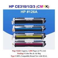Qi HP 126A CE310A CE311A CE312A CE313A Color Toner Compatible CMYK