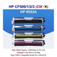 Qi HP 202A CF500A CF501A CF502A CF503A Color Toner Compatible CMYK