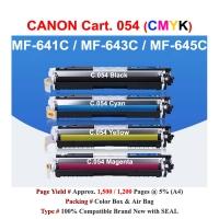 Qi Canon CRG 054 For MF641 643 645 LBP 621 623 Compatible Color Toner CMYK