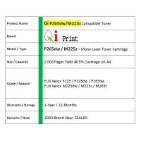 Qi Print FUJI Xerox P225 265 M225 265 Toner Compatible * NEW SEALED *