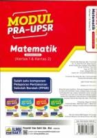 (PENERBIT ILMU BAKTI)MODUL PRA-UPSR MATEMATIK(DWIBAHASA)(KERTAS 1&KERTAS 2)2020