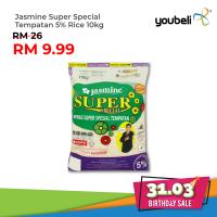 Jasmine Super Special Tempatan 5% Rice 10kg [31.03 Birthday Sale]