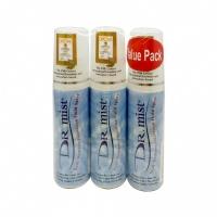 Dr Mist Deodorant Unscented Spray (3 x 75ml)