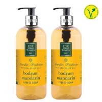 Eyup Sabri Tuncer Natural Olive Oil Liquid Soap (Bodrum Mandarin) 500ml -set