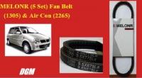 MELONR - Perodua Kancil Fan Belt (1305) & Air Con (2265)(5 set 10 pcs)
