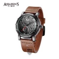 Assassins Time MOONWALK Men Business Sport Japan Quartz Leather Water Resistant 30m Warranty Watches AT-S0008K