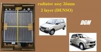 Perodua Kancil 660/850 auto radiator assy 26mm 2 layer (DENSO)
