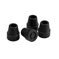 Quadcane Walking Stick Rubber Tip Replacement - Narrow - 4 units