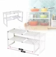 Expandable Under Sink Storage Rack (Rak Dapur)
