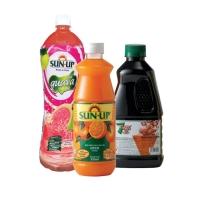 [RAYA FLASH SALE] COMBO Sun Up 1.5L Pink Guava Ready + Sun Up 850ml Orange + 7 Rings 1L Sarsi Cordial