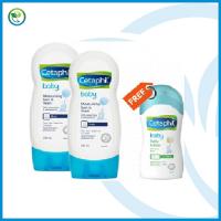 Cetaphil Baby Moisturising Bath & Wash 230ml (With Aloe Vera & Almond oil ) (TWIN PACK) +FOC Cetaphil Baby Daily Lotion 50ml