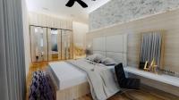 Bedroom Design 3D Rendering Perspective View