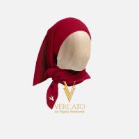 VERCATO Premium Bawal Pleated in Maroon