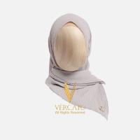 VERCATO Premium Bawal Pleated in Silver
