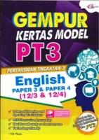 (CEMERLANG PUBLICATIONS SDN BHD)GEMPUR KERTAS MODEL ENGLISH PAPER 3&PAPER 4(12/3&12/4)PT3 2020