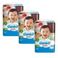 (3 PKT) Genki! Pants Mega M60/L50/XL44/XXL36